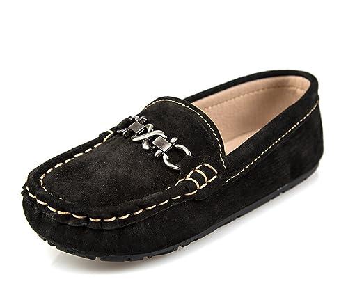 Miyoopark UK-XCR6505 - Mocasines de Ante Para Mujer, Color Negro, Talla 27 EU: Amazon.es: Zapatos y complementos