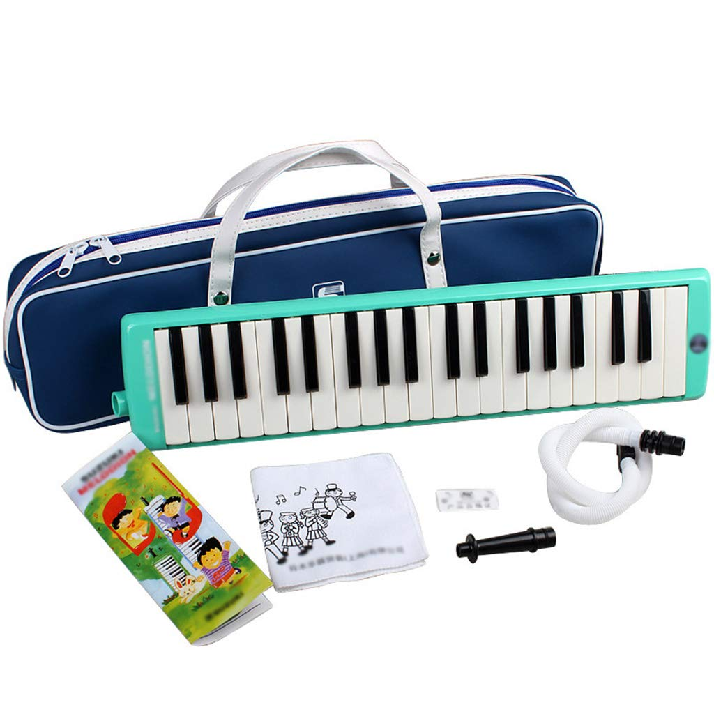 Melodica Instrument,37-Key ABS Student Tone Piano Green