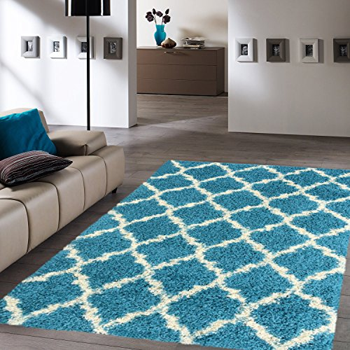 (Ottomanson Collection shag Area Rug, 6'7