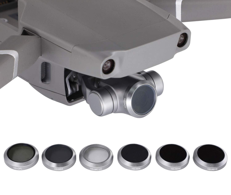 Tineer Camera Lens Filter Set para dji Mavic 2 Zoom 4K Gimbal Camera ND16 ND8 ND32 Accesorios ND4 Paquete de 6 filtros MCUV//CPL