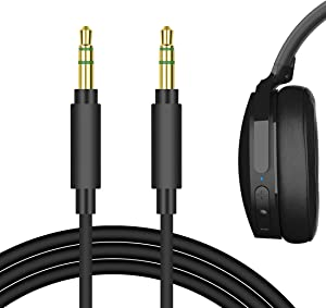 Geekria QuickFit Audio Cable Compatible with Sküllcandy Hesh 3, Hesh 2, Crusher Wireless, Venue, Grind, Crusher Evo, Cassette Headphones Cable, 3.5mm AUX Replacement Stereo Cord (Black 5.6FT)