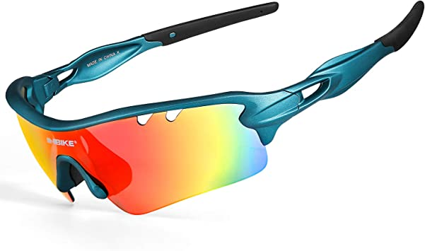 INBIKE Gafas De Sol Polarizadas para Ciclismo con 5 Lentes Intercambiables UV400 Y Montura De TR-90, Gafas para MTB Bicicleta Montaña 100% De Protección UV: Amazon.es: Deportes y aire libre