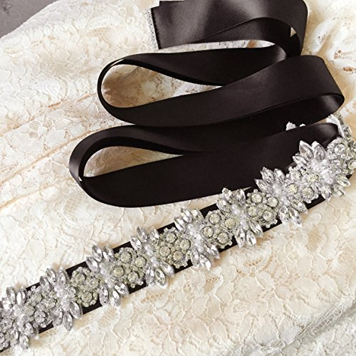 Wedding Wedding Women's Bridal Green Belts Sashes for Belt Azaleas Diamond Dress Sash wOZzWqT