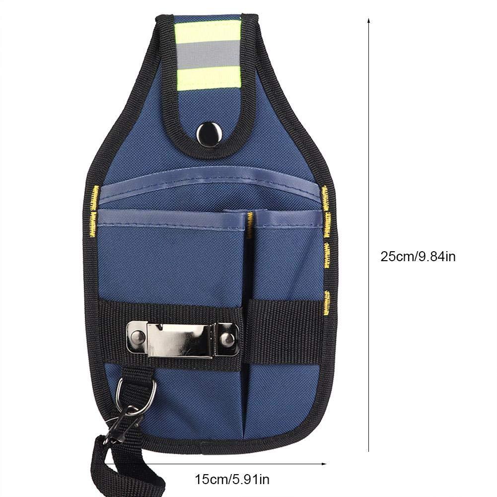 estilo2 Bolsa de Cintura de Electricista con Bolsa de Herramientas de Tela de Oxford Multifuncional para jardiner/ía Bolsa de Herramientas