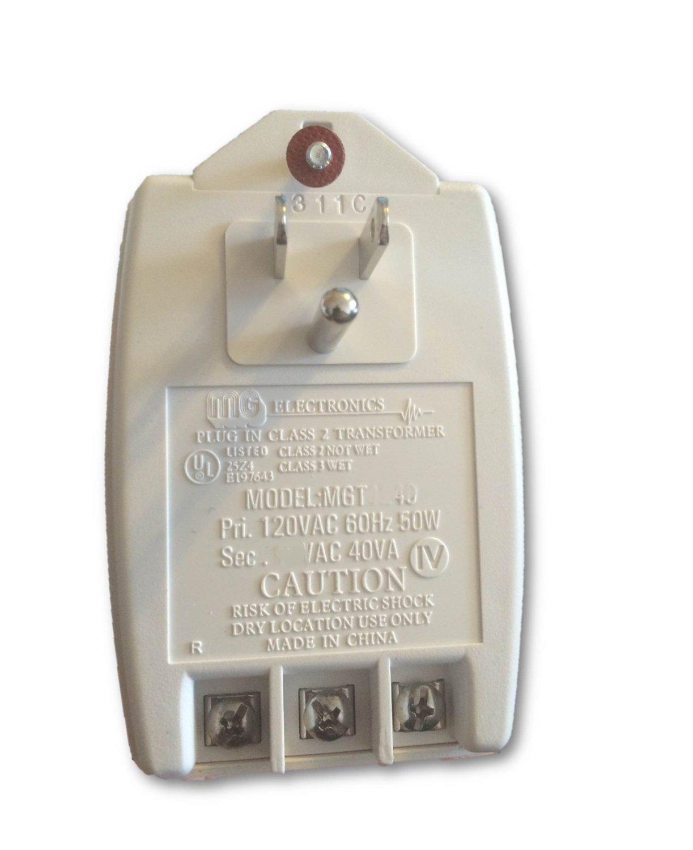Class II Transformer - 12 Volt AC, 40 VA, UL/CSA Approved : MGT-1240 (2)