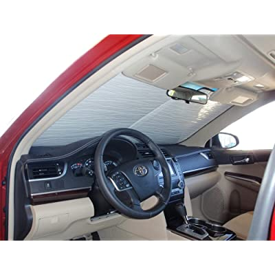 HeatShield, The Original Windshield Sun Shade, Custom-Fit for Toyota Camry Sedan w/o Sensor 2012, 2013, 2014, 2015, 2016, 2020, Silver Series: Automotive