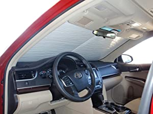 The Original Windshield Sun Shade, Custom-Fit for Toyota Camry Sedan w/o Sensor 2012, 2013, 2014, 2015, 2016, 2017, Silver Series
