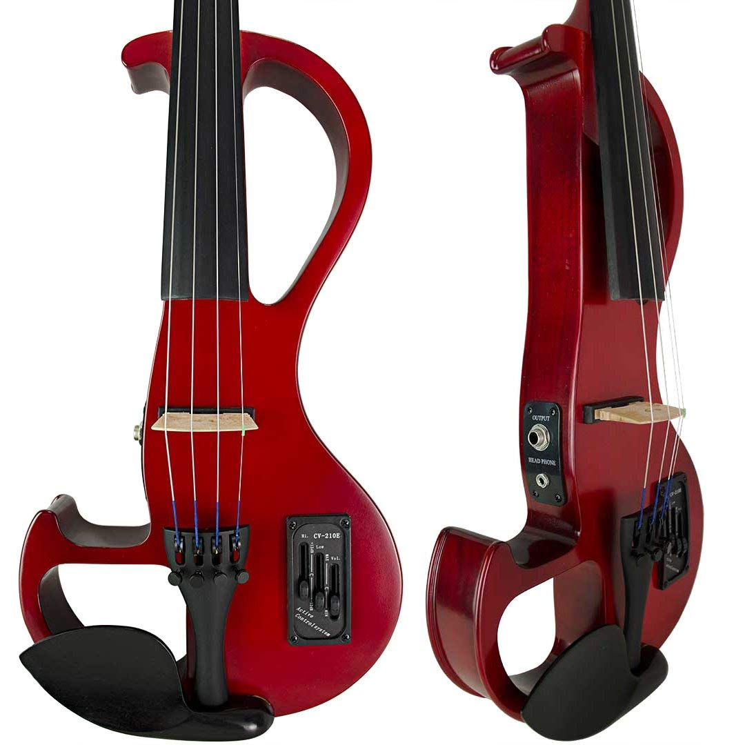 Bunnel EDGE Clearance Electric Violin Outfit Amp Included BE300 (Rockstar Red) by Kennedy Violins (Image #2)