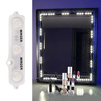 led lights for vanity mirror. Mirror LED Light Kit Minger Lighting Makeup Vanity Lighted with  Touch Dimmer
