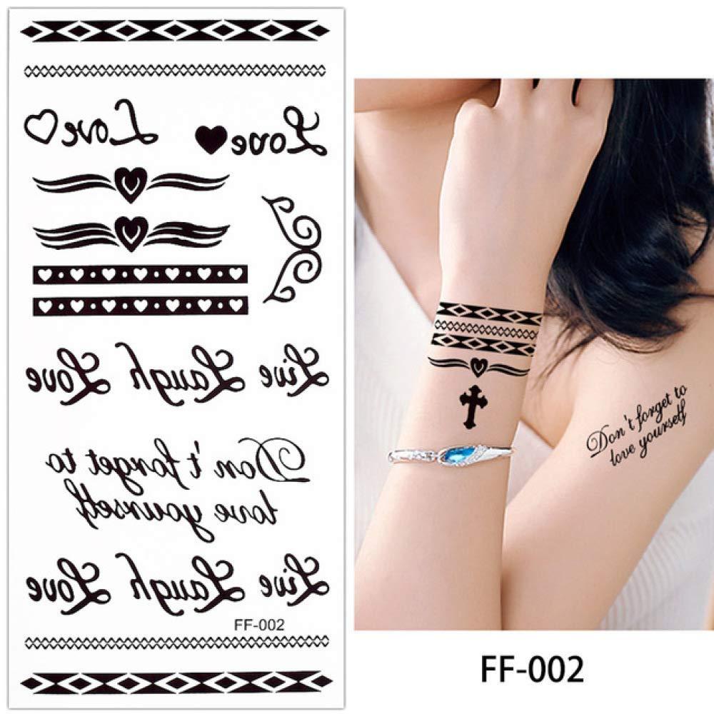 4 Piezas Alfabeto Cuerpo Tatuaje Pegatina Impermeable Brazo Brazo ...