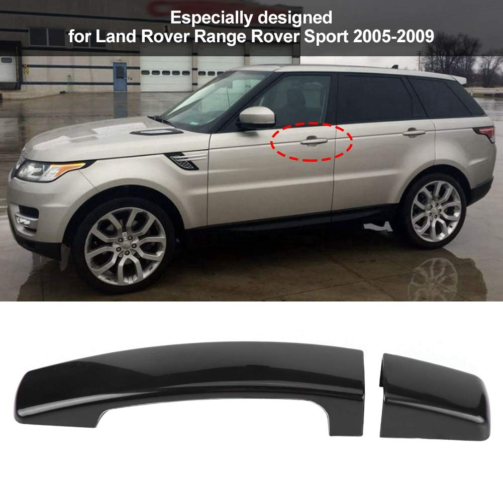 Keenso ABS Car Glossy Door Handle Decal Frame Trim Protector For Range Rover Sport Discovery 3 Freelander 2 2005-2009 Black Exterior Door Handle Cover for Land Rover