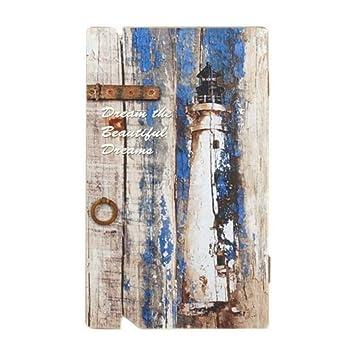 CAPRILO Caja Llavero Pared Decorativa Faro. Guardallaves. Cajas Multiusos. Decoración Hogar. Regalos Originales. 34 x 20 x 4 cm.: Amazon.es: Hogar