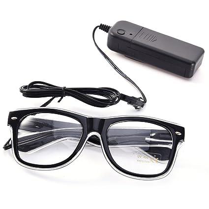 Luminous Glasses, XGZ LED Light Up Fashion Glasses EL Wire Led ...