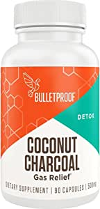 Bulletproof Activated Coconut Charcoal for Detox, Heartburn and Gas Relief, 90 Capsules