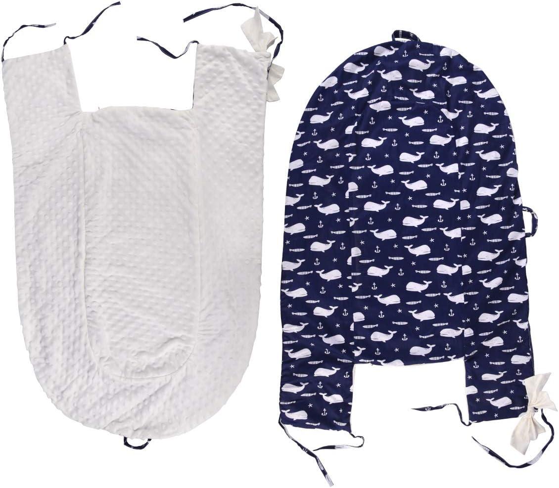 Motif dauphin Bleu Housse de rechange pour nid dange de b/éb/é Respirante et douce