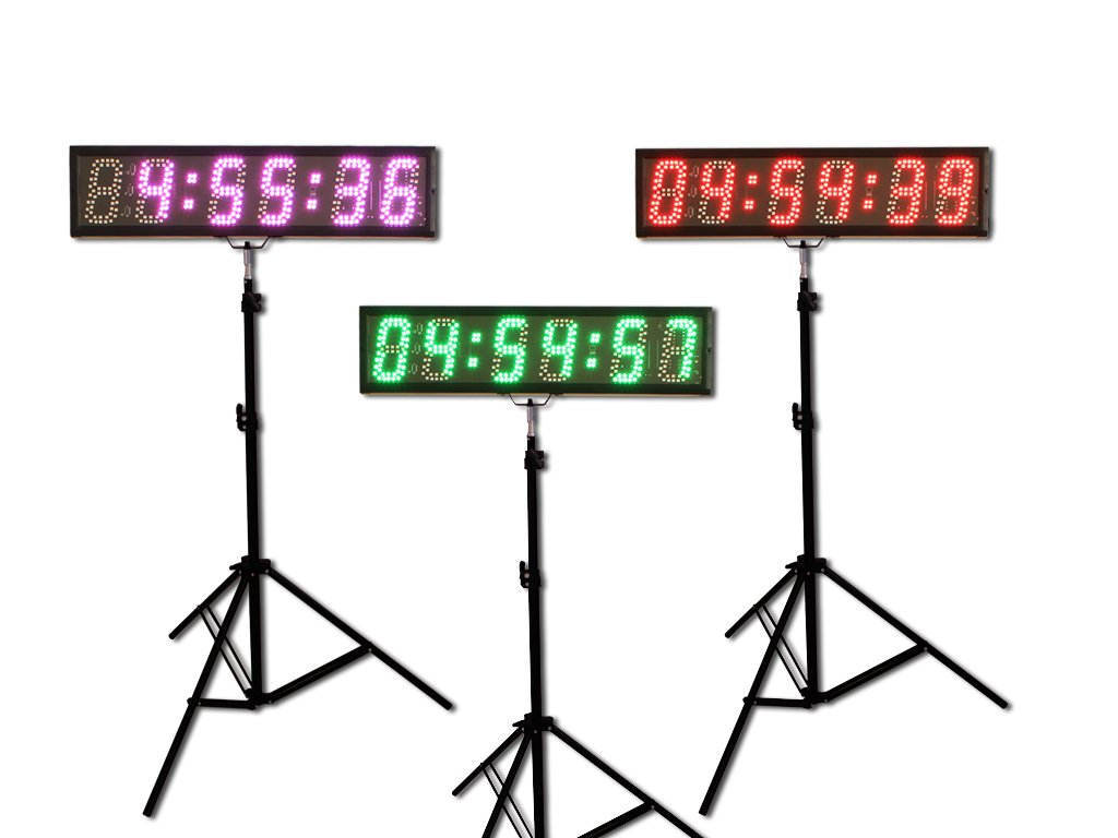 EU 5'' 6 digits (7 Colors) LED Countdown Clock Race Timing For Running Events APP With IR Remote by EU Electronic