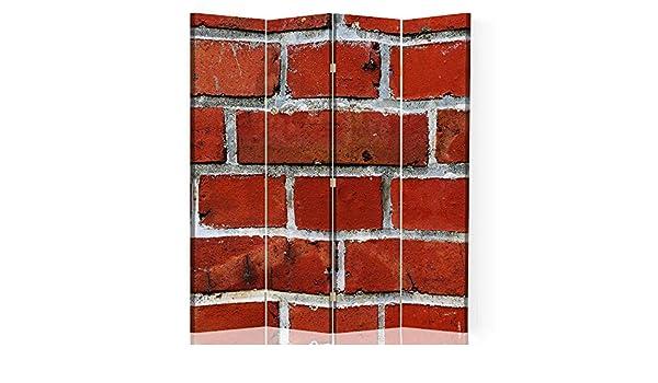 Feeby Separador de Espacios Muro Ladrillos 4 Paneles 360 ...
