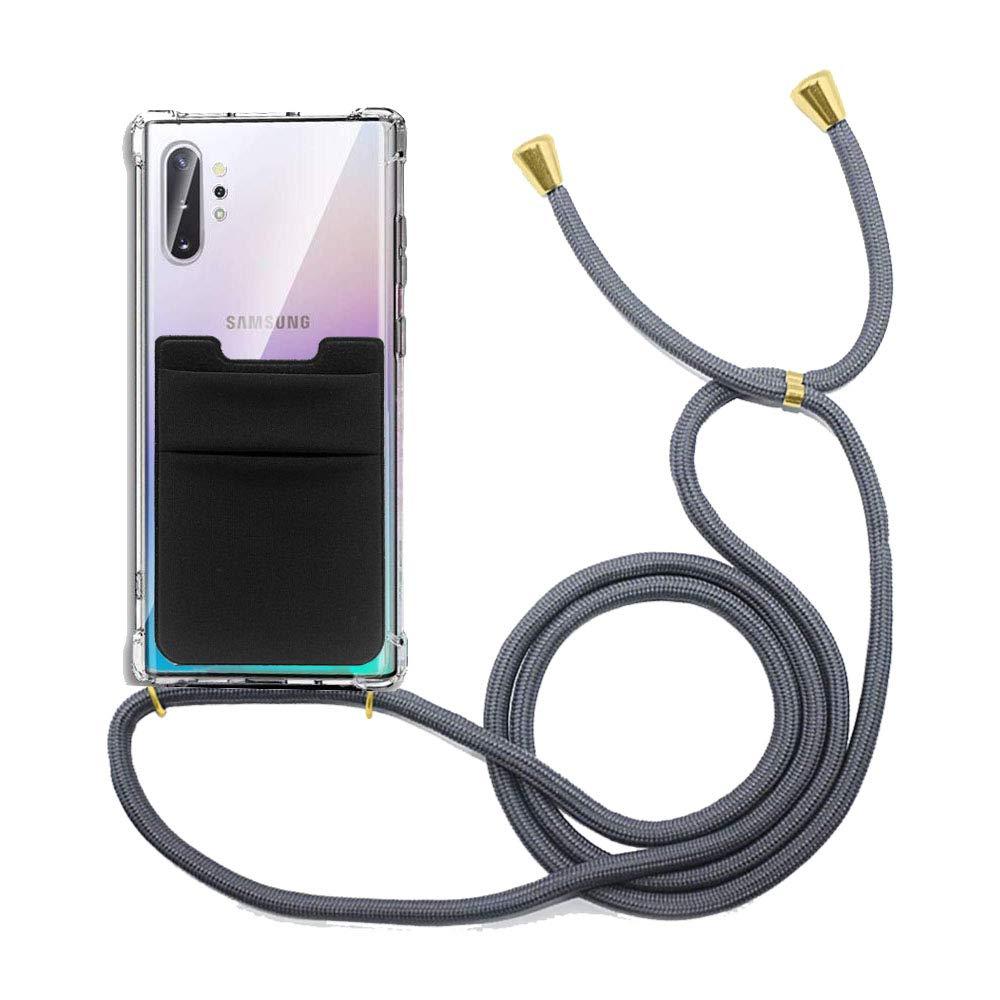 Funda para Collar de Smartphone para Colgar con Cadena cord/ón y Tarjetero FSCOVER Funda con Cadena para tel/éfono m/óvil Tarjetero Compatible con Samsung Galaxy Note 10 Plus