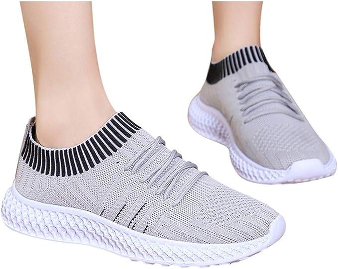 DERENFR 2020 - Zapatillas Deportivas para Mujer, Color Negro y Dorado, Mujer, 16.01, Gris, 35: Amazon.es: Deportes y aire libre