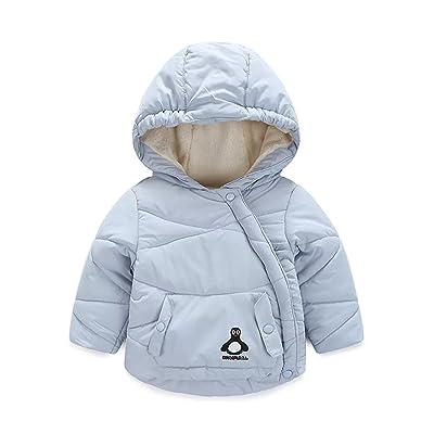 e307adb5a9d3c Baby Boys Girls Cotton Fleece Hooded Jacket Outerwear Cartoon Coat