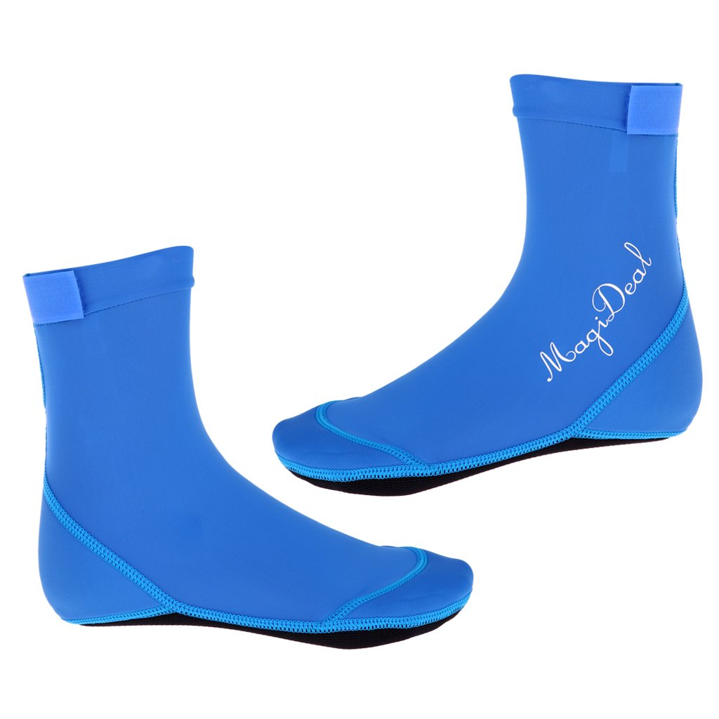 MagiDeal Water Shoes Aqua Socks for Men Women Swimming Surfing Scuba Diving Beach Sports Yoga Running Exercise - Blue, S