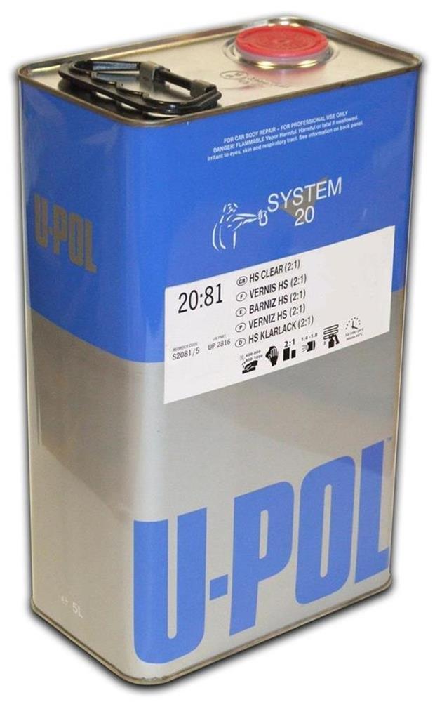 U-Pol Products 2812 Clear System 2081 Hs Coat Paint - 5 Liter
