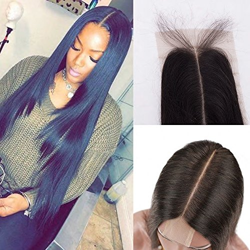 Persephone Silky Straight Lace Closure 2x6 Middle Part Human Hair Lace Closure Frontal Brazilian Virgin Hair 20 inch
