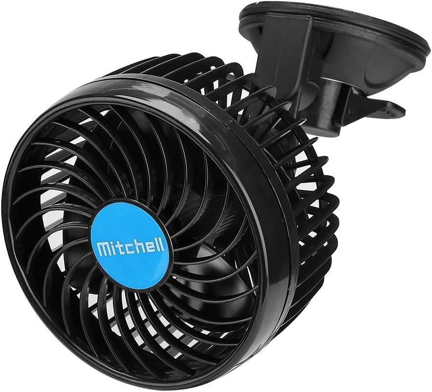 Ventilador de coche de 12 voltios ajustable, bajo ruido, soporte ...