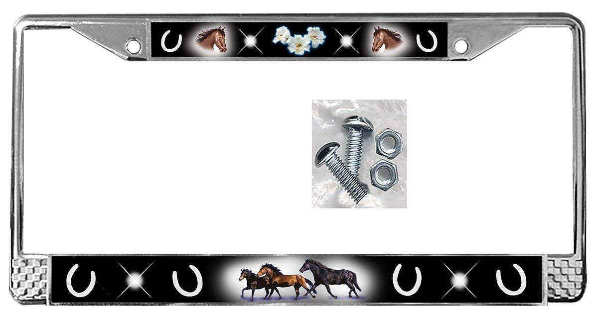 Horses Auto License Plate Frame Many Colors