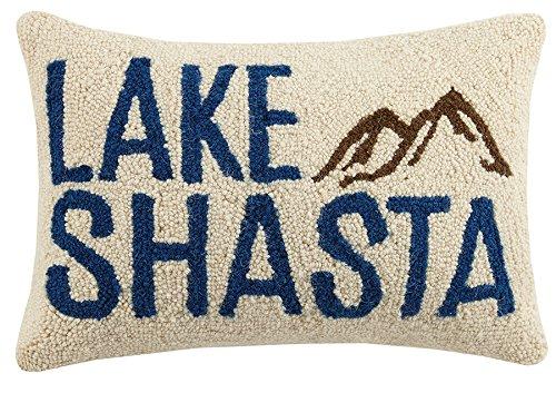 Peking Handicraft Lake Shasta Hook Pillow Multicolored