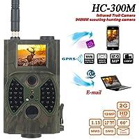 elegantstunning Cámara de caza HC300M HD 1080P 12MP IR para exploración de vida silvestre cámara de visión nocturna…