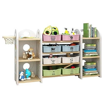 Exceptionnel PrideBebe Kids Toy Storage Organizer Shelves For Kid 8 Plastic Bins (#12)