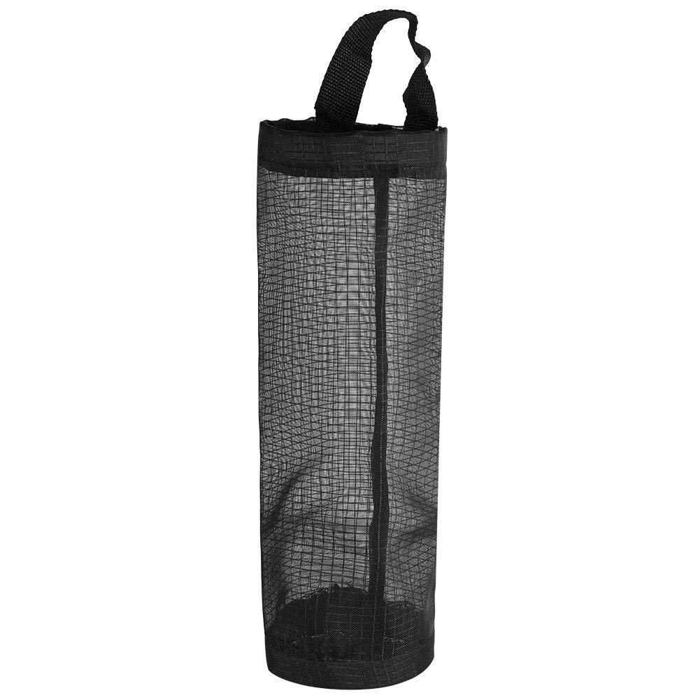 Bolsa de pl/ástico port/átil para colgar en la pared de malla redonda para la basura y la cocina color negro