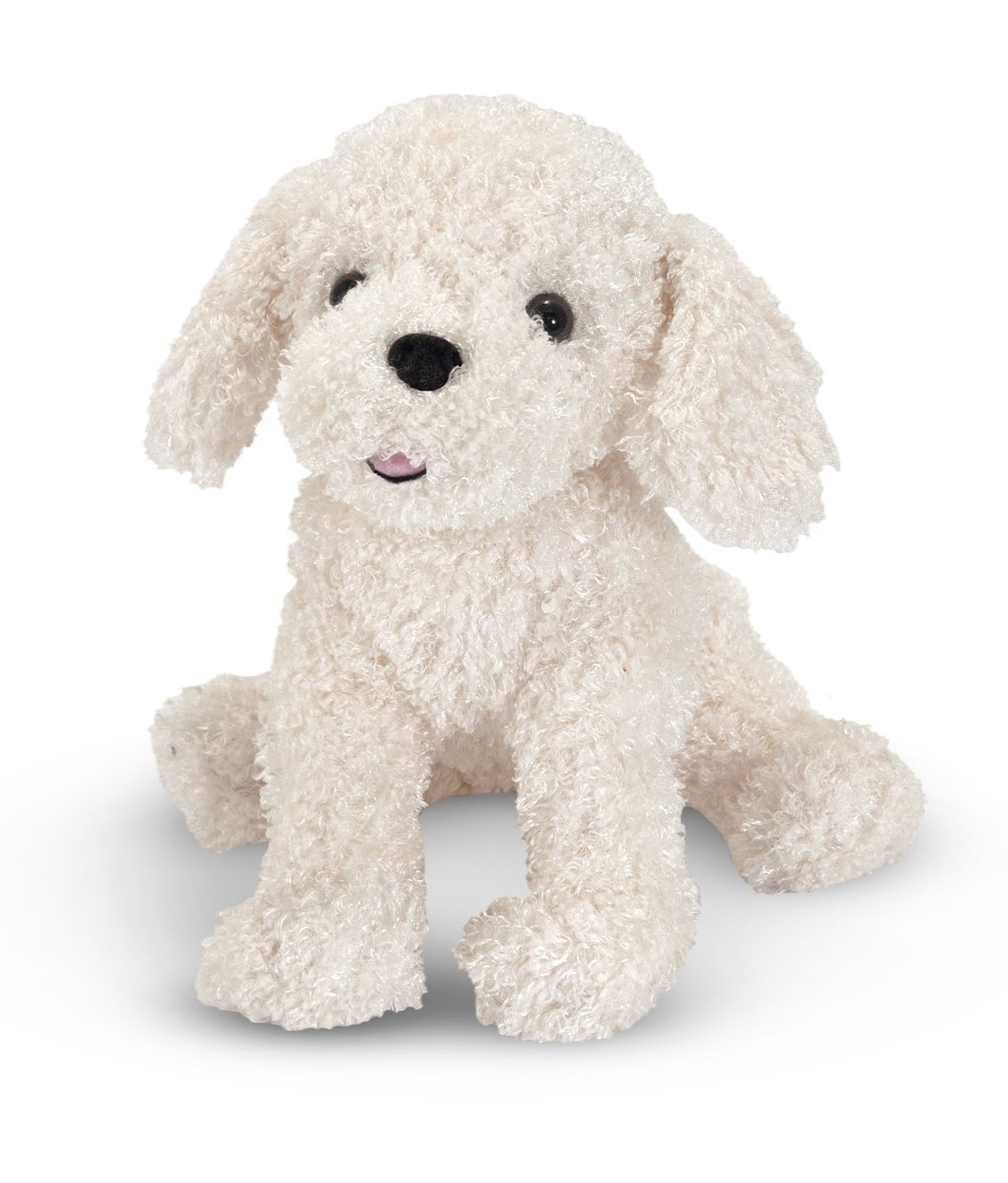 Amazon Com Melissa Doug 7487 Stuffed Bichon Frise Puppy Doll