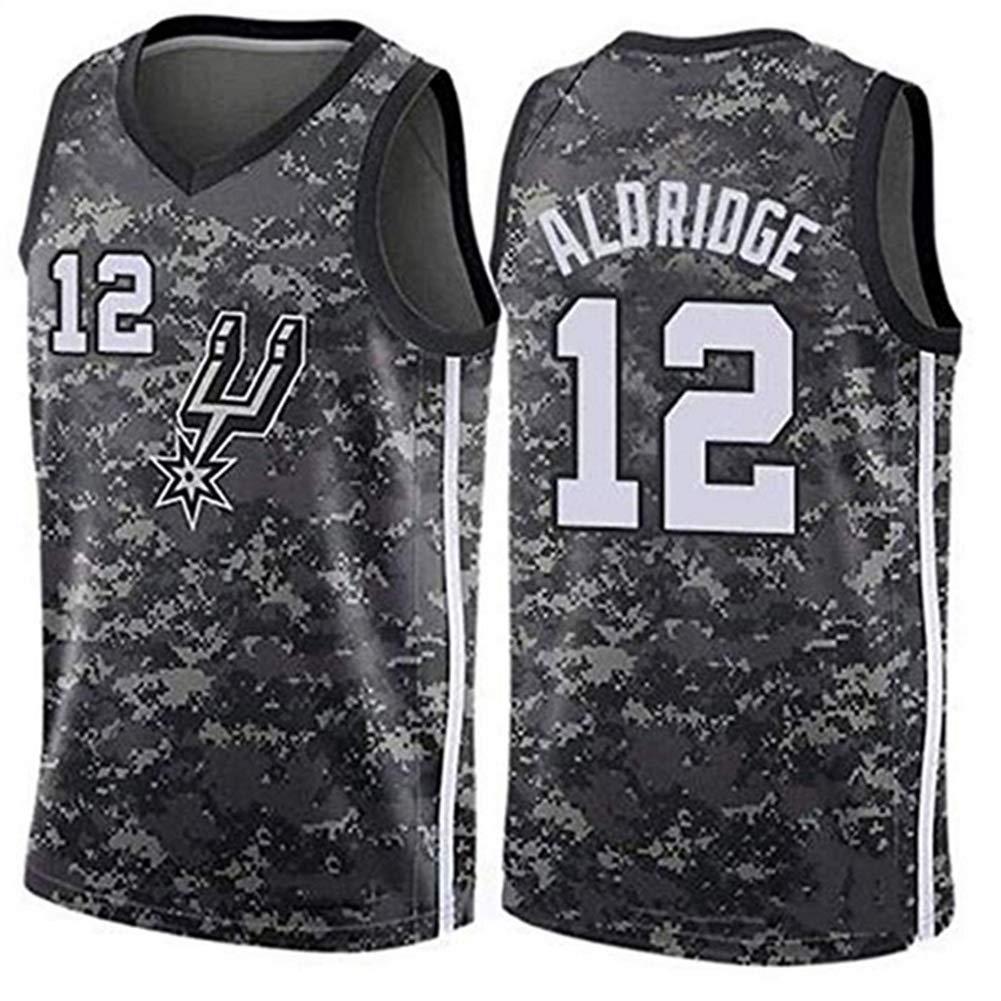 noir(a) X-petit Lamarcus Aldridge   12 Basketball Masculin Jersey - NBA San Antonio Spurs Swinghomme Jersey Manches T-Shirt noir(A)-XS