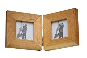 Gifting Ideas Wooden Photo Frame | Two Fold Photo Frame Set for Table | Home Decors (2 x 10 * 15 cm)