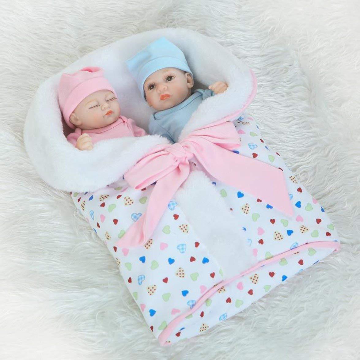 Kongqiabona 26 cm cm cm 1 para neugeborenes Baby Puppe Kinder Spielen Spielzeug lebensechte weiche silikon Vinyl Baby Puppe ungiftig Spielzeug handgefertigte Baby Puppe aecb09