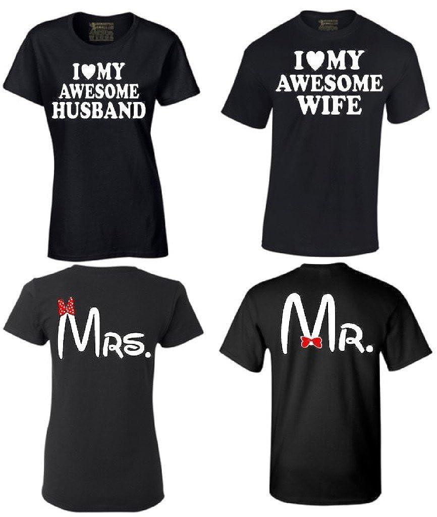 Amazon I Custom World Couple Shirts I Love My Awesome Husband