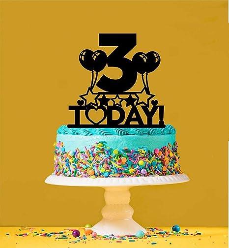 Decoración para tarta de tercer cumpleaños - 3 años de edad ...