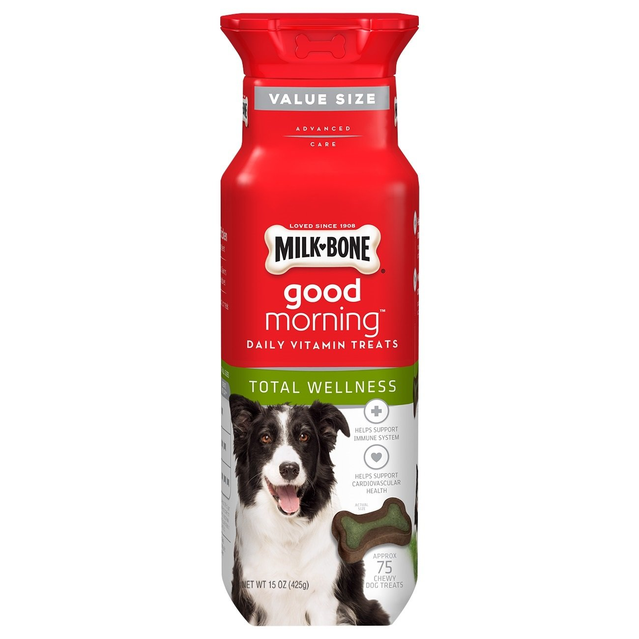 Milk-Bone Good Morning Daily Vitamin Dog Treats Total Wellness 15 Ounce