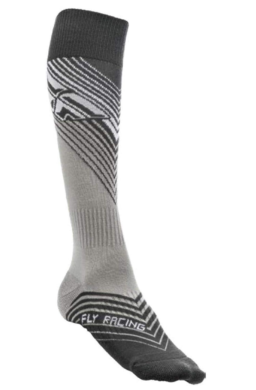 Black, Large - X-Large Fly Racing MX Socks Thin Black//White