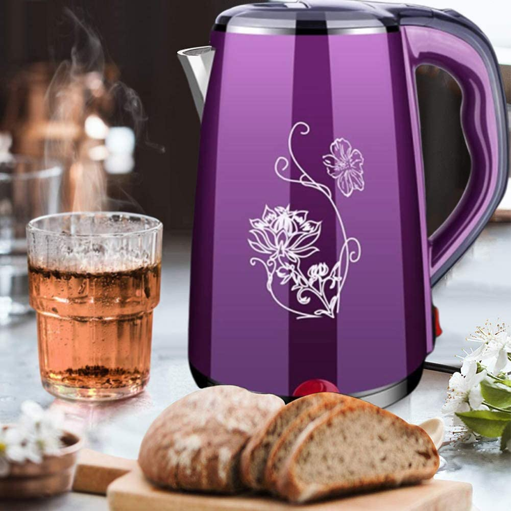 JosLove Electric Kettle Tea Pot Stainless Steel Auto Shut-Off Boiled-Dry Protection 1500W 220V