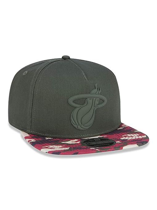 ac27a911d1 BONE 950 MIAMI HEAT NBA ABA RETA VERDE MILITAR NEW ERA: Amazon.com.br:  Amazon Moda