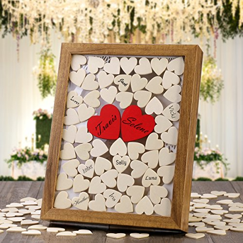 wedding decorations 130 pcs wooden heart include 30 mm and. Black Bedroom Furniture Sets. Home Design Ideas