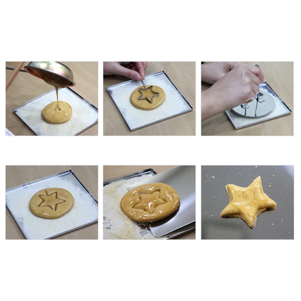 Corea Hecho a mano azúcar galletas Candy calle alimentos ppopgi Dalgona Juego de herramientas para: Amazon.es: Hogar