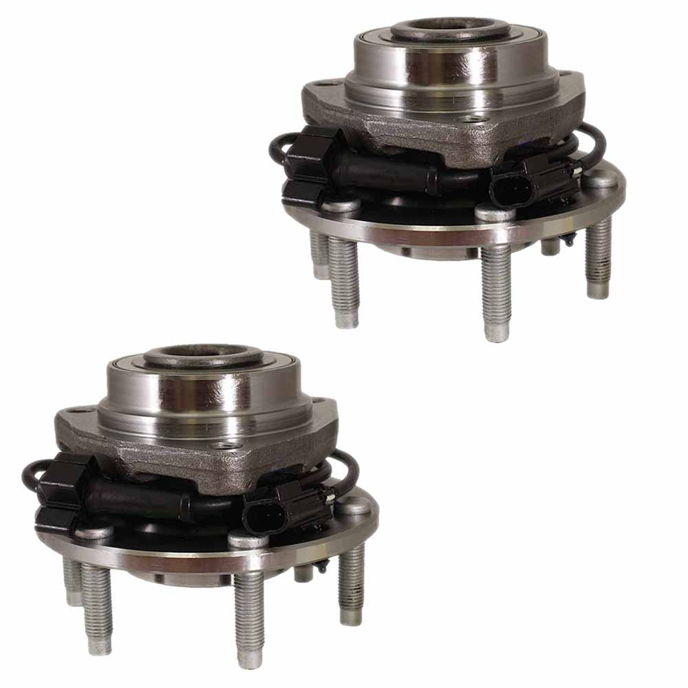 HU513188 x 2 (Set of 2) Brand New Wheel Bearing Hub Assembly Front Left and Right Side (6 Lug) Fit 04-07 Buick RAINIER, 03-06 Chevy SSR, 02-09 TRAILBLAZER, 02-09 GMC ENVOY