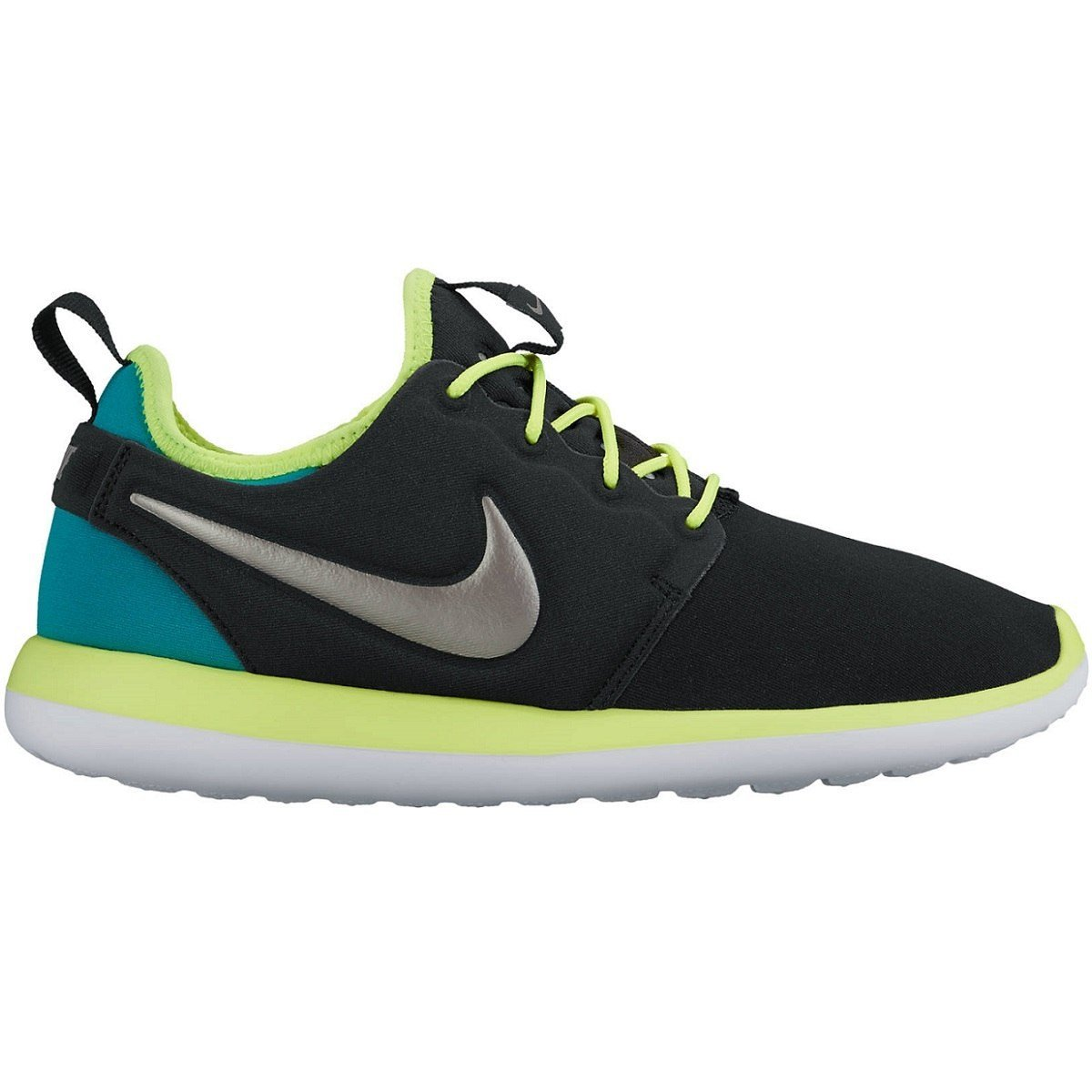 70a015f05a6ea NIKE ROSHE 2 (GS) Black/Volt/Rio Teal/Metallic Pewter 5.5 Youth US