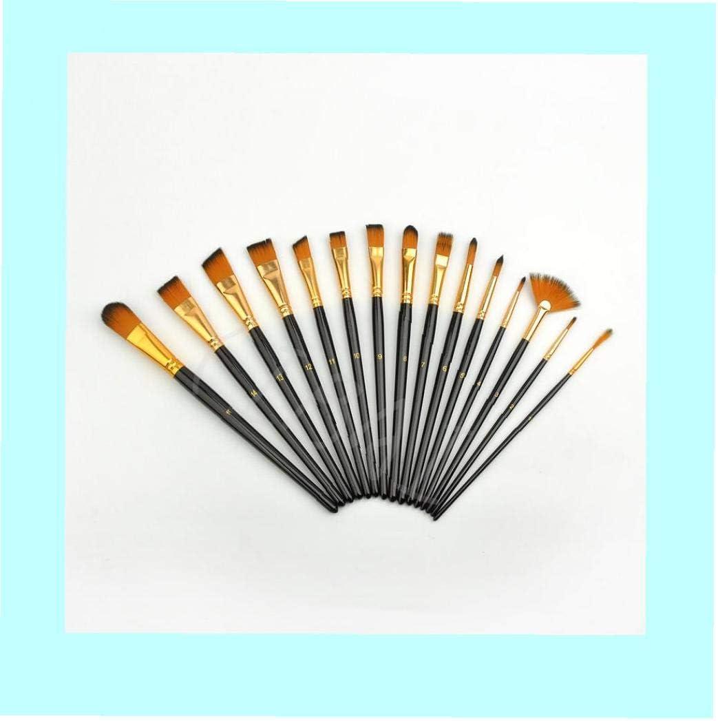 Pinceaux longue poign/ée Artiste Pinceaux Ensemble pour la peinture Aquarelle Huile /& Face avec porte-voyage Art Supplies