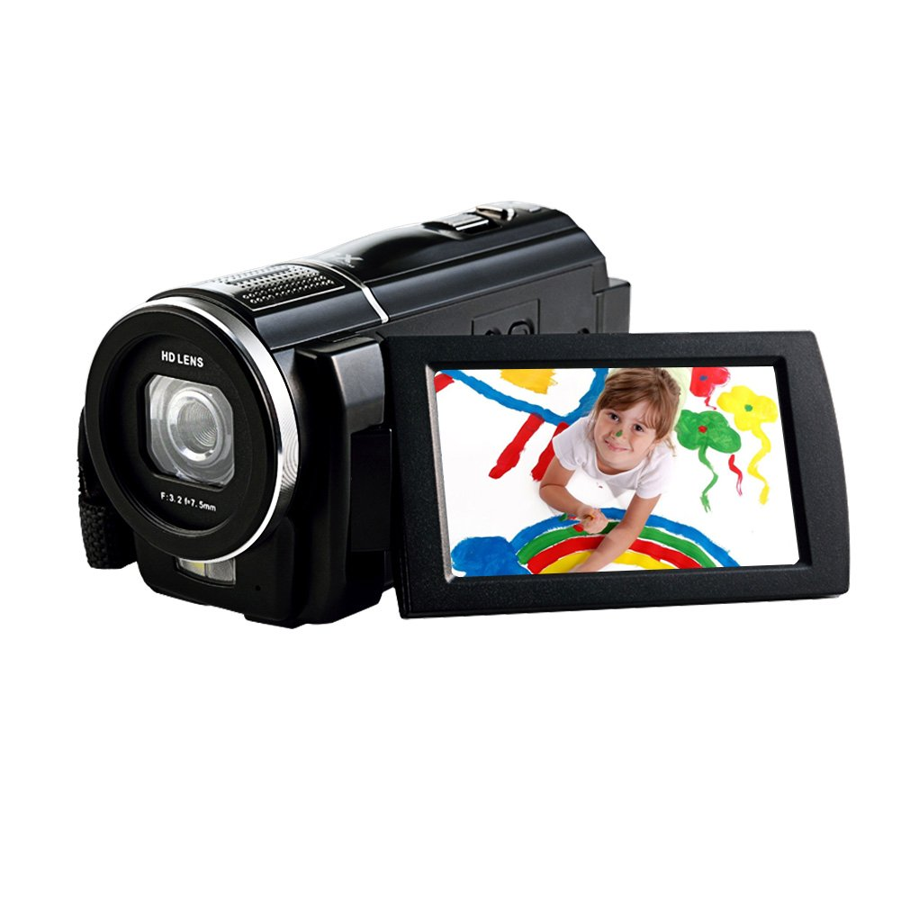 Camcorder Full HD 1080p 30fps 24.0MP Digital Camera Macro Focusing 3 Inch Touch Screen 16x Digital Zoom Video camera HDMI Output Support Remote Control