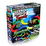 Race Track Glow in the Dark Race Car 220 Pieces Flexible Assembly Track Race Series by Mibote